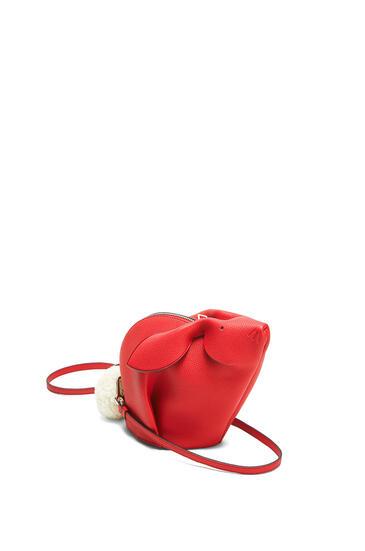 LOEWE Mini Bunny bag in classic calfskin Scarlet Red pdp_rd