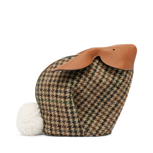 LOEWE Bunny Tweed Mini Bag Cypress/Tan/White all