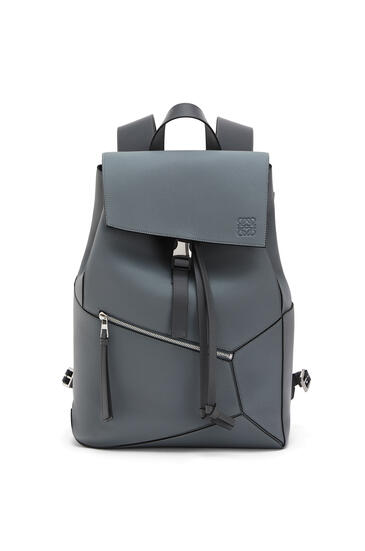 LOEWE Puzzle Backpack In Soft Grained Calfskin 鐵灰 pdp_rd
