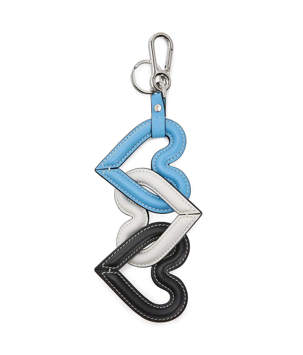 LOEWE Heart Chain Charm Blue/Multicolor front