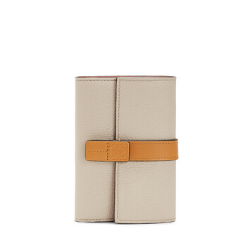 LOEWE Small Vertical Wallet Light Oat/Honey front