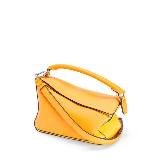 LOEWE Puzzle Small Bag Mandarin/Yellow front