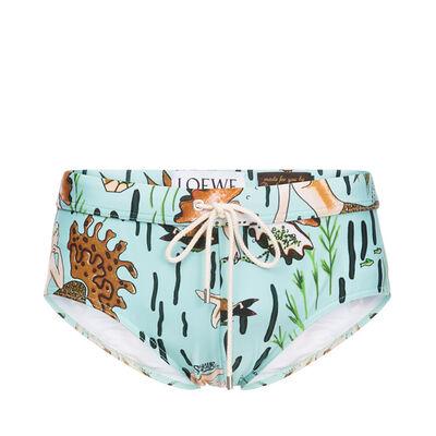 LOEWE Swim Briefs Paula Mermaid Sea-Water Green front