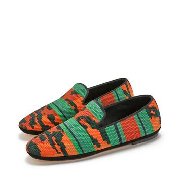LOEWE Slipper Tigre Naranja/Verde front
