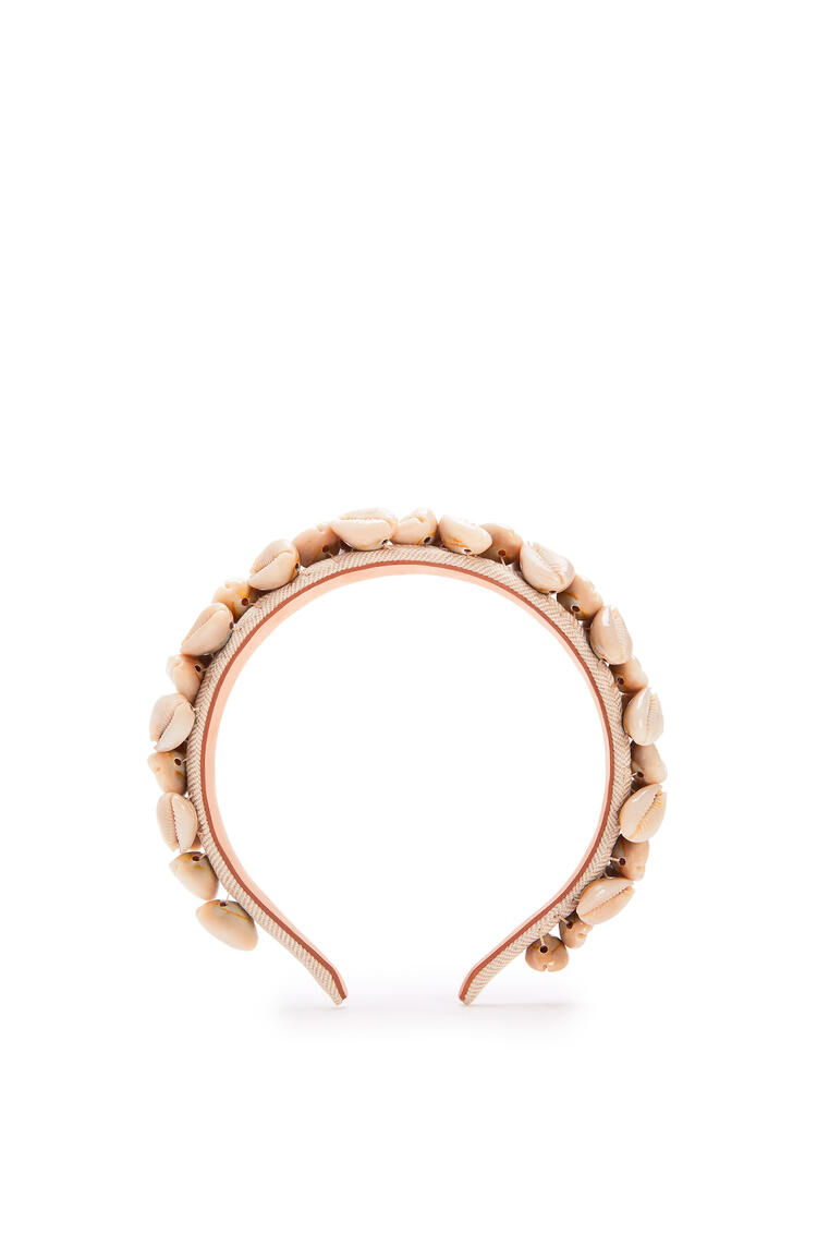 LOEWE Seashells Headband In Straw And Shell Beige pdp_rd