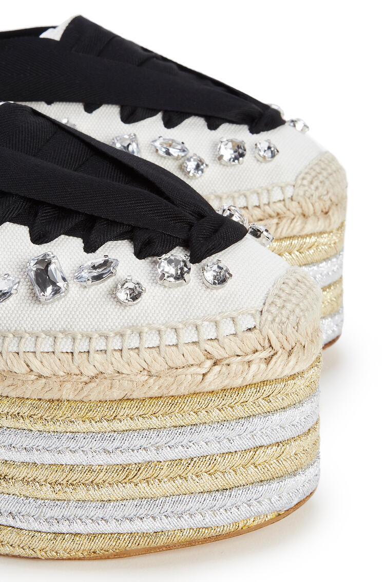 LOEWE Wedge espadrille in cotton Black/White pdp_rd