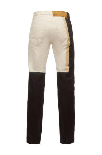 LOEWE 5 Pocket Jeans Tie Dye 白色 front