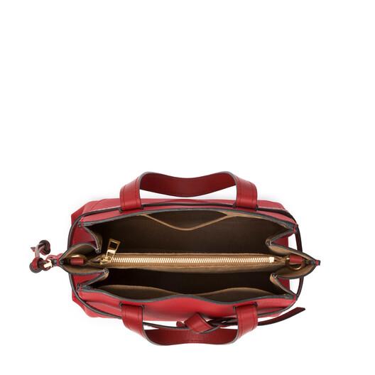 LOEWE Gate Top Handle Pequeño Rojo Escarlata/Rojo Tostado front