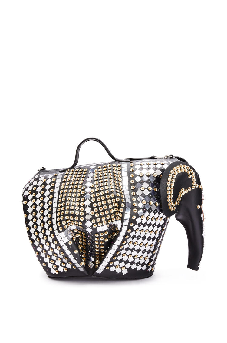 LOEWE XL Elephant bag in calfskin and crystal beads Black/Multicolor pdp_rd