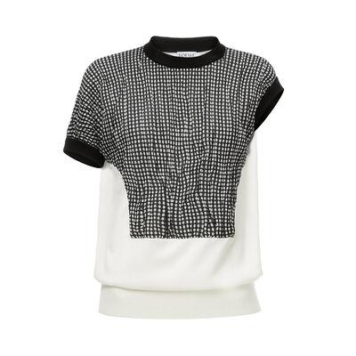 LOEWE Dot Short Sleeve Sweater Black/White front