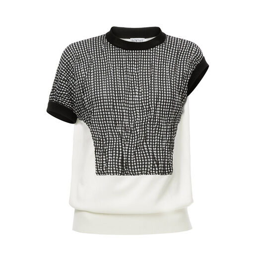 Dot Short Sleeve Sweater