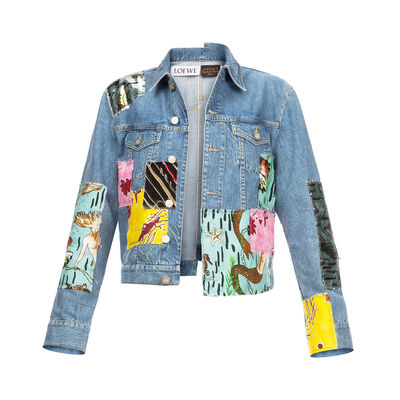 LOEWE Denim Jacket Paula Patchwork Indigo/Multicolour front