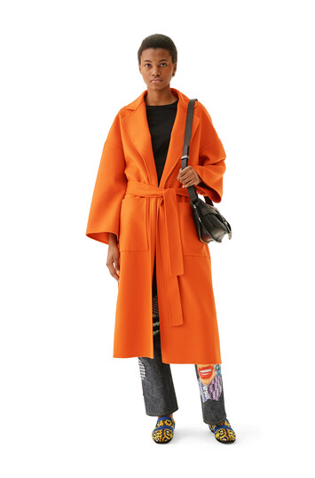 LOEWE Oversize Belted Coat Orange front