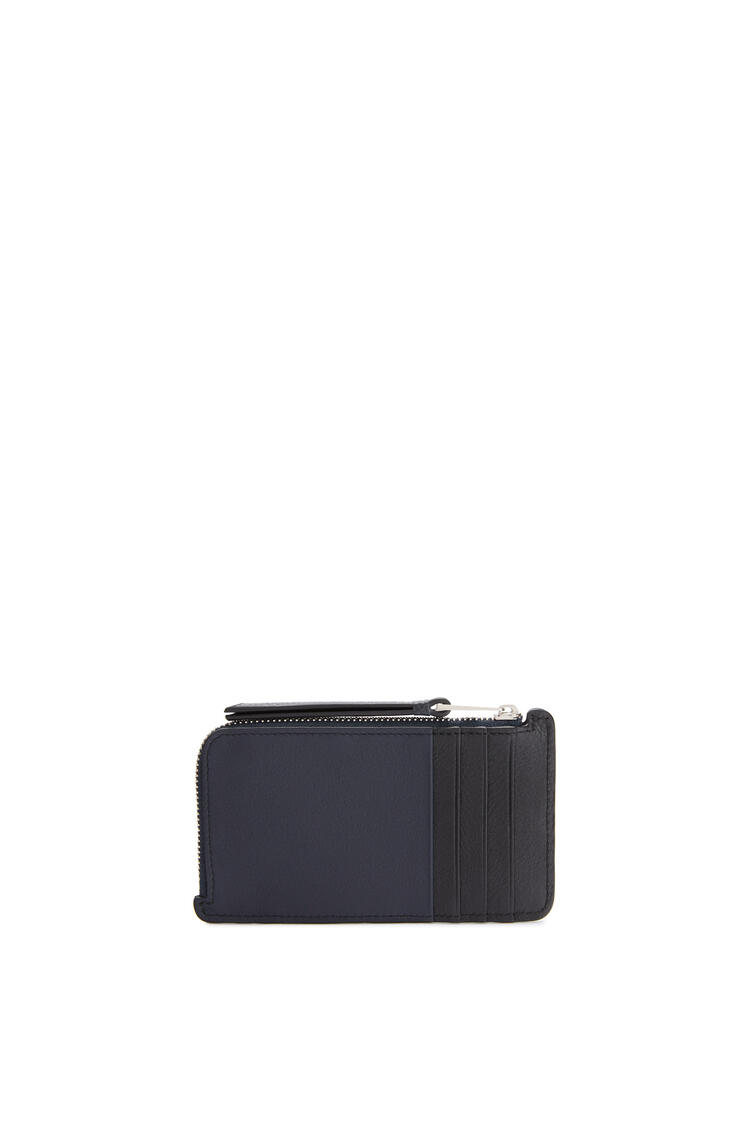 LOEWE Puzzle coin cardholder in classic calfskin Midnight Blue/Brunette pdp_rd