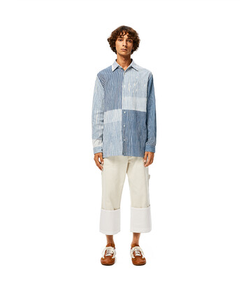 LOEWE Overshirt 白色/藍色 front