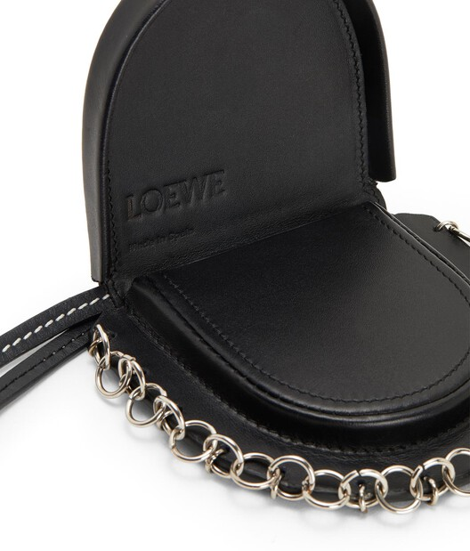 LOEWE Small Heel Pouch Black front