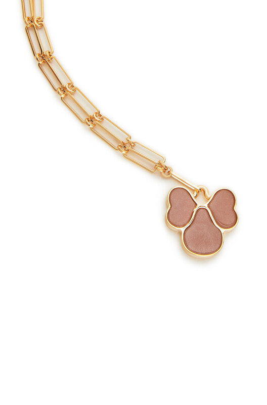 LOEWE Pansy Necklace Pink front