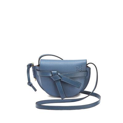 LOEWE Mini Gate Bag Varsity Blue/Indigo front