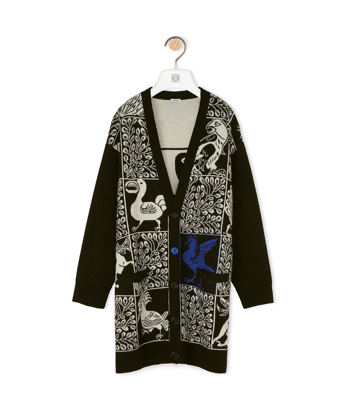LOEWE Oversize Cardigan Animals Black/Blue front