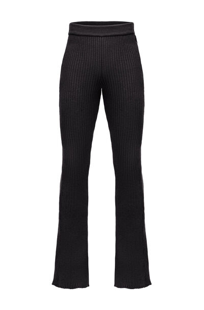 LOEWE Knitted Flared Trousers Black front