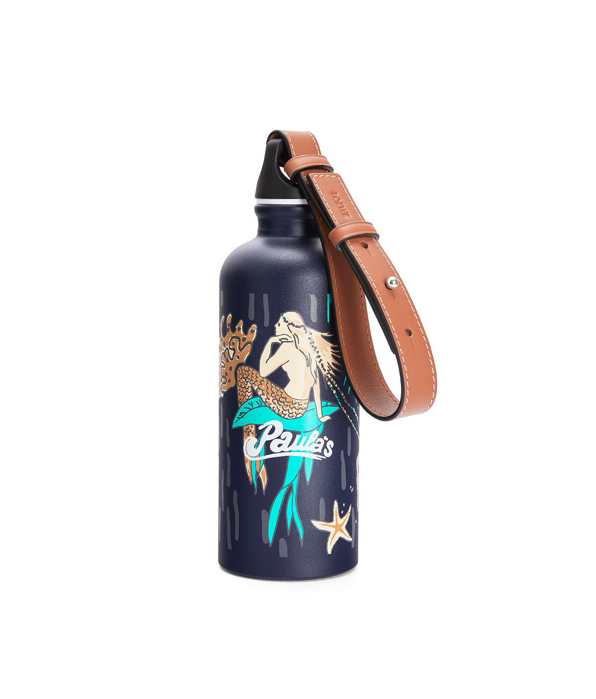 LOEWE Bottle In Mermaid Aluminium And Calfskin Marine front
