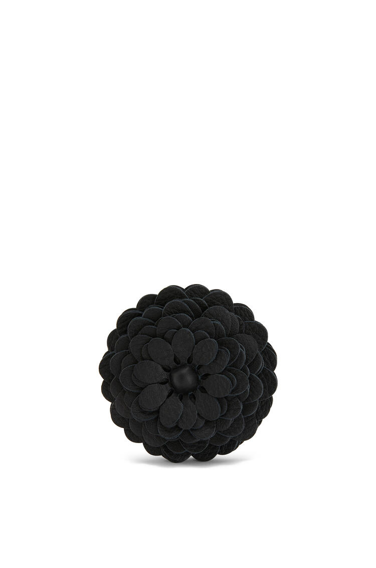 LOEWE Stud flower in calfskin Black pdp_rd