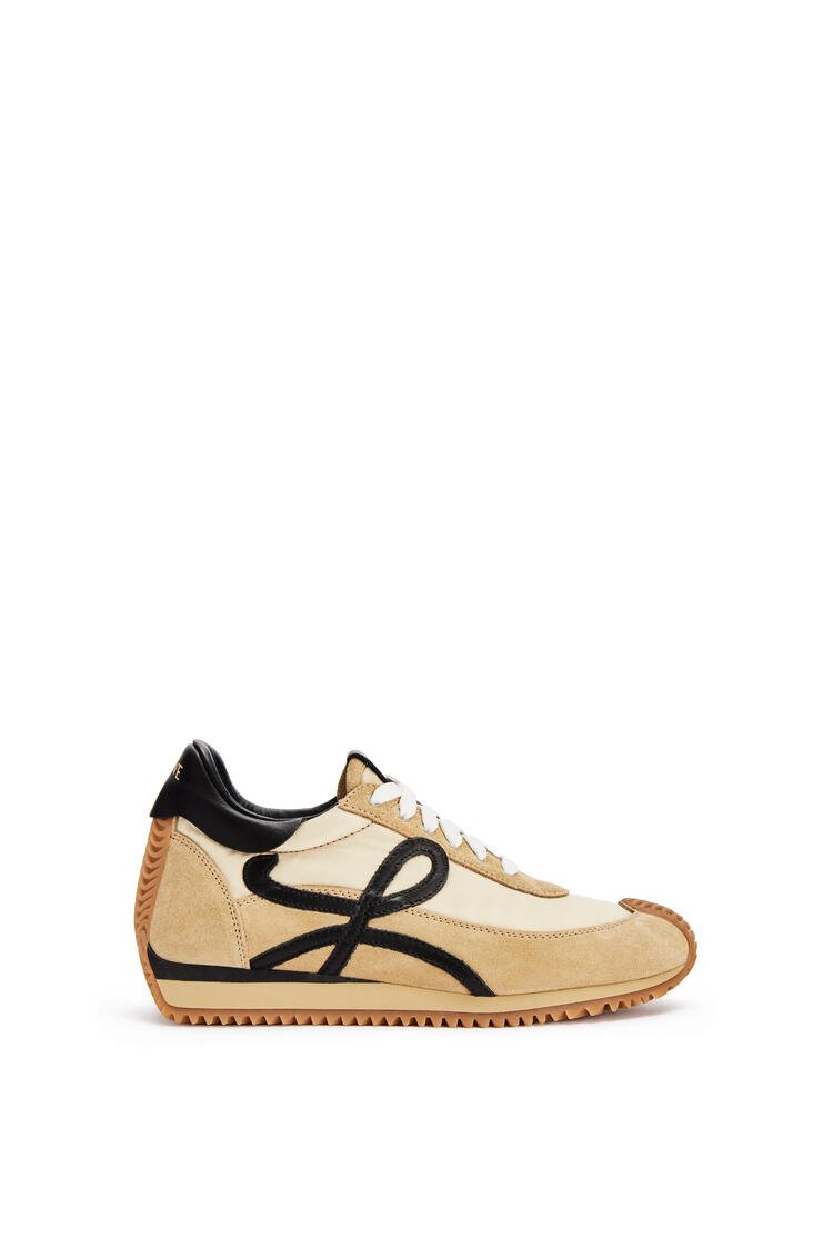 LOEWE Flow runner in suede Gold/Black pdp_rd