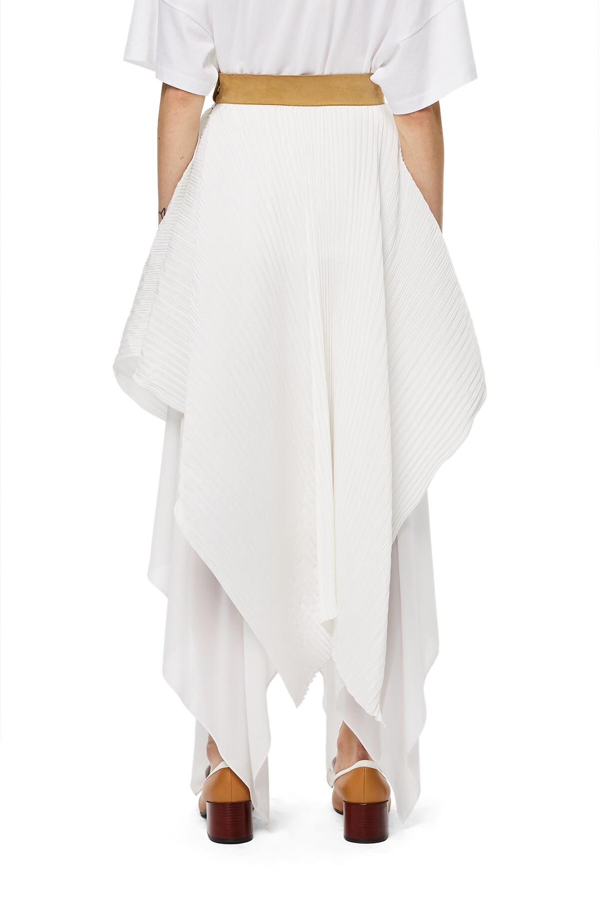 LOEWE Pleated Skirt White front