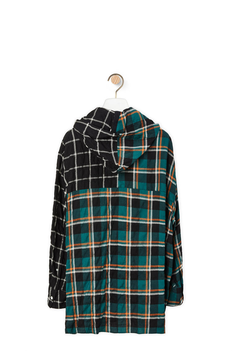 LOEWE Hooded overshirt in cotton and modal Multicolor pdp_rd