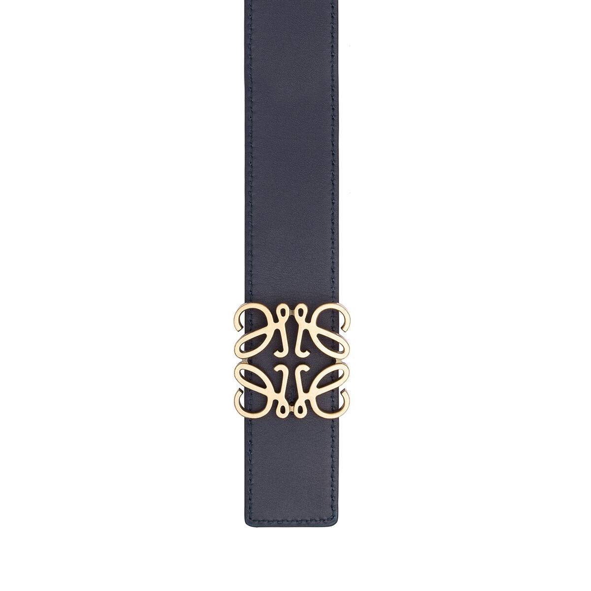 LOEWE Anagram Belt 4 Cm Black/Navy/Old Gold front