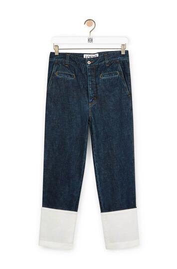 LOEWE Fisherman Jeans Mid Blue Denim front