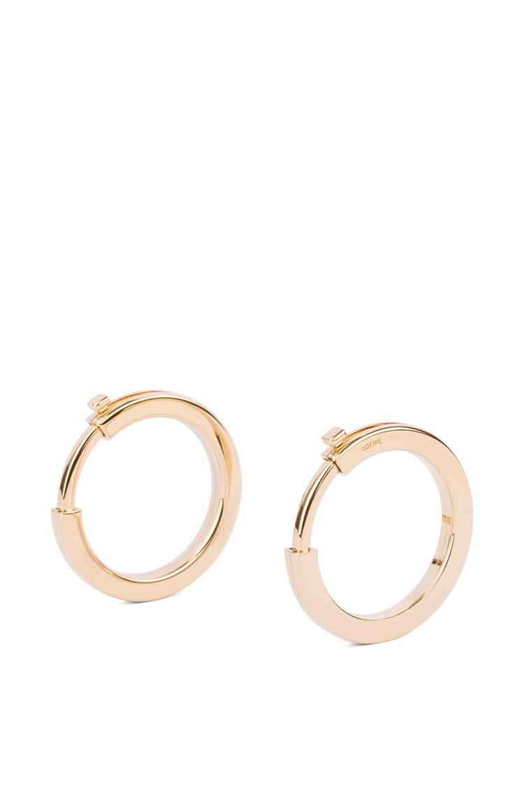 LOEWE Metallic rings for strap in metal Gold pdp_rd