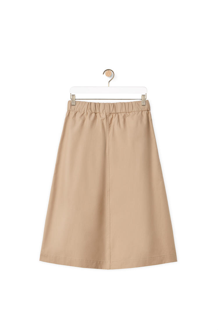 LOEWE Leather belt skirt in cotton Beige pdp_rd