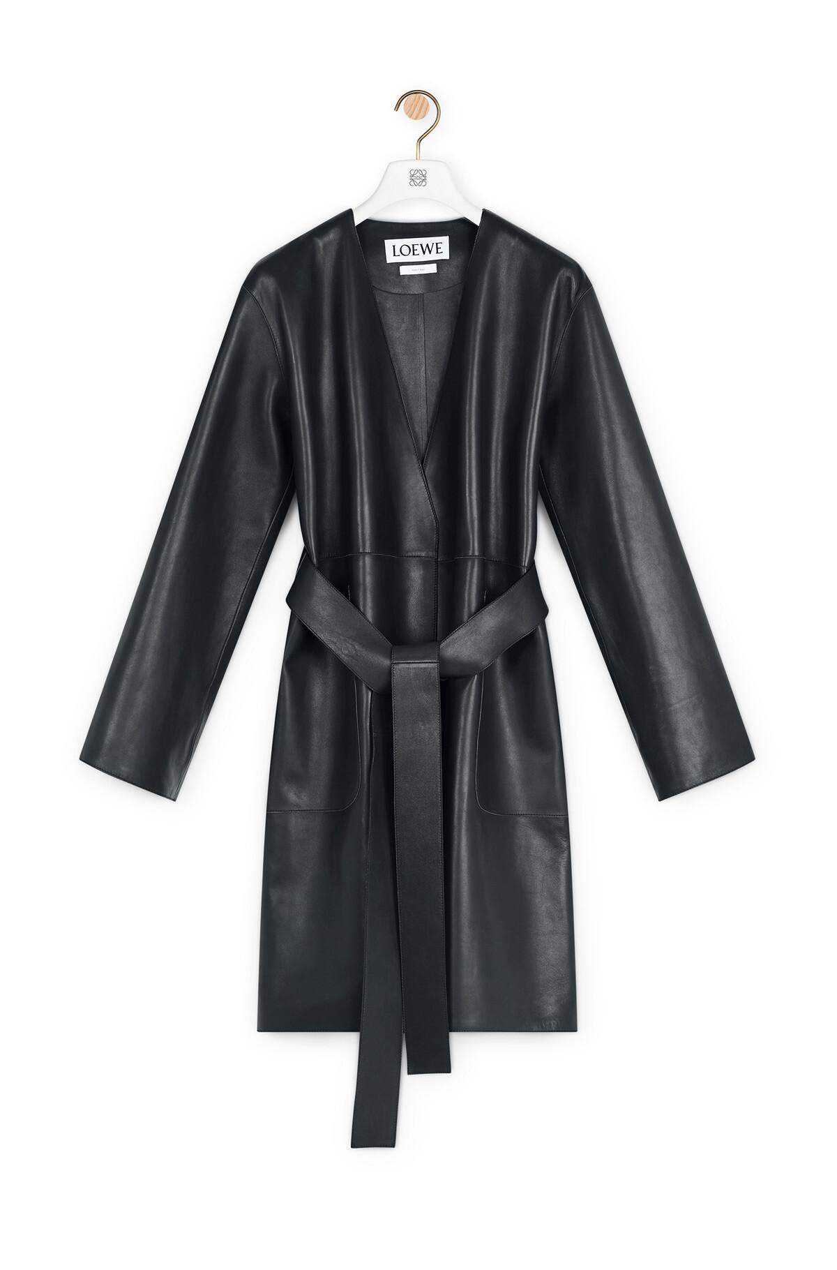 LOEWE Short Coat Black front