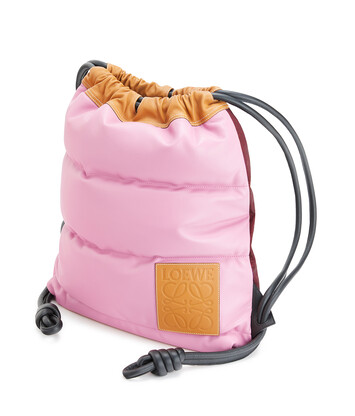 LOEWE Yago Puffy Backpack Candy front