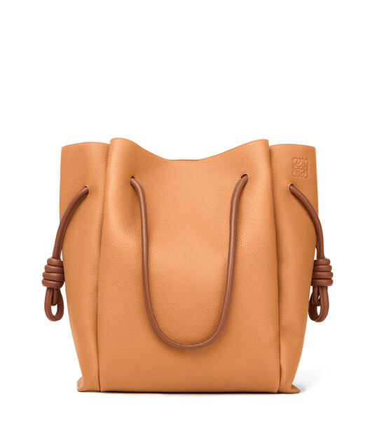 LOEWE Flamenco Knot Tote Bag Light Caramel/Tan front