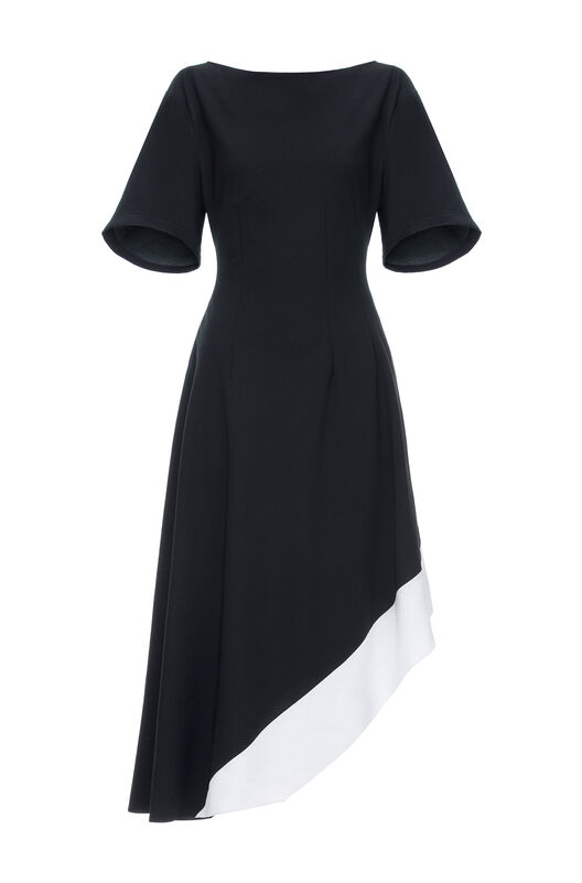 LOEWE Asymmetric Dress Negro/Blanco all