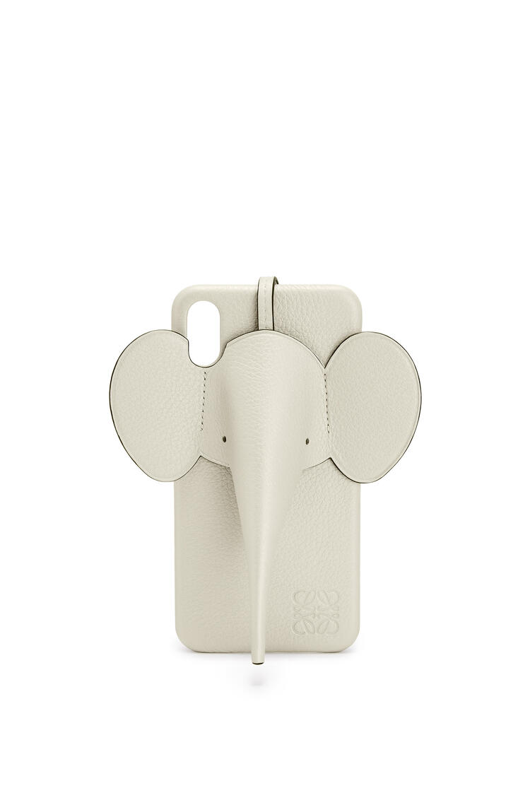 LOEWE Elephant cover for iPhone XS Max in pearlized calfskin Sage pdp_rd