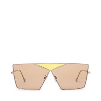 LOEWE Square Puzzle Sunglasses Light Ruthenium/Brown front