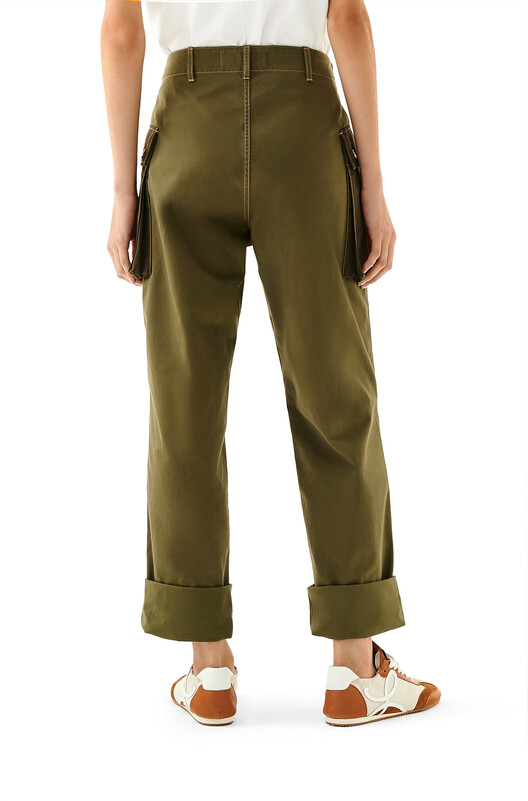 LOEWE Cargo Trousers Khaki Green front
