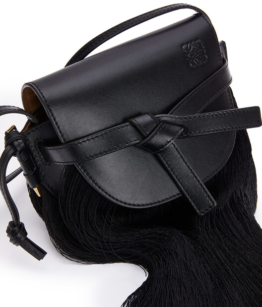 LOEWE Gate Fringes Mini Bag Black front