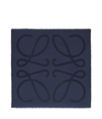 LOEWE 140X140 Scarf Giant Anagram 海水 front