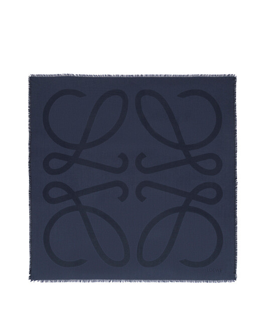 LOEWE 140X140 Scarf Giant Anagram Marine front