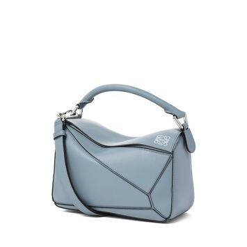 LOEWE Puzzle Small Bag Stone Blue front