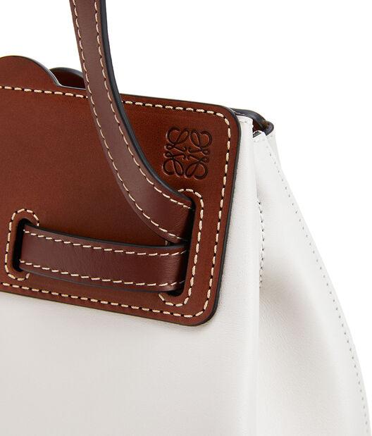 LOEWE Lazo Bucket Bag Soft White front