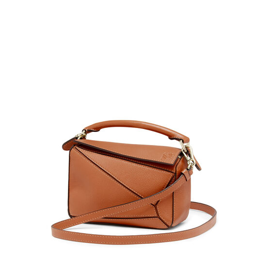 LOEWE Mini Puzzle Bag 棕色 all