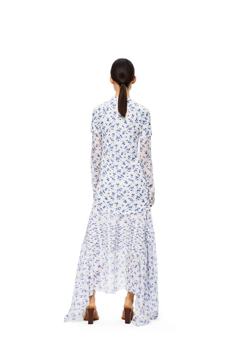 LOEWE ドレス(フラワー コットン&シルク) ホワイト/マルチカラー pdp_rd