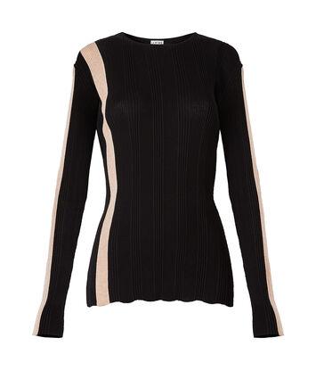 LOEWE Stripe Ribbed Sweater Black/Pink front