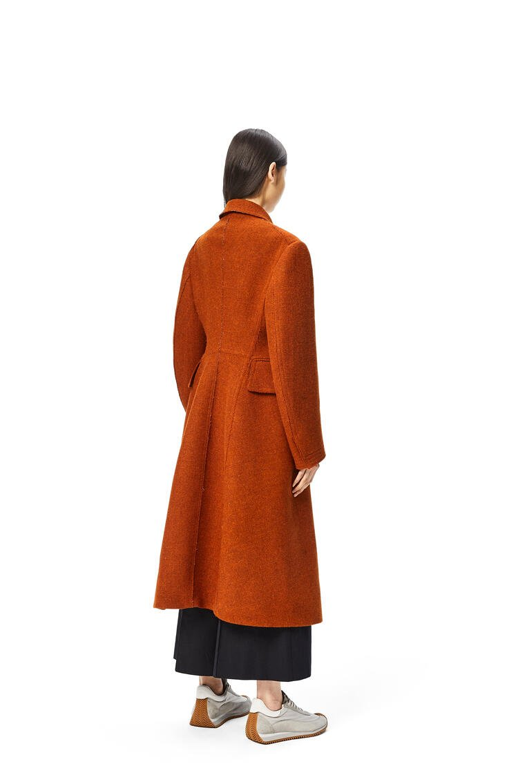 LOEWE Military tweed coat in wool Pumpkin pdp_rd