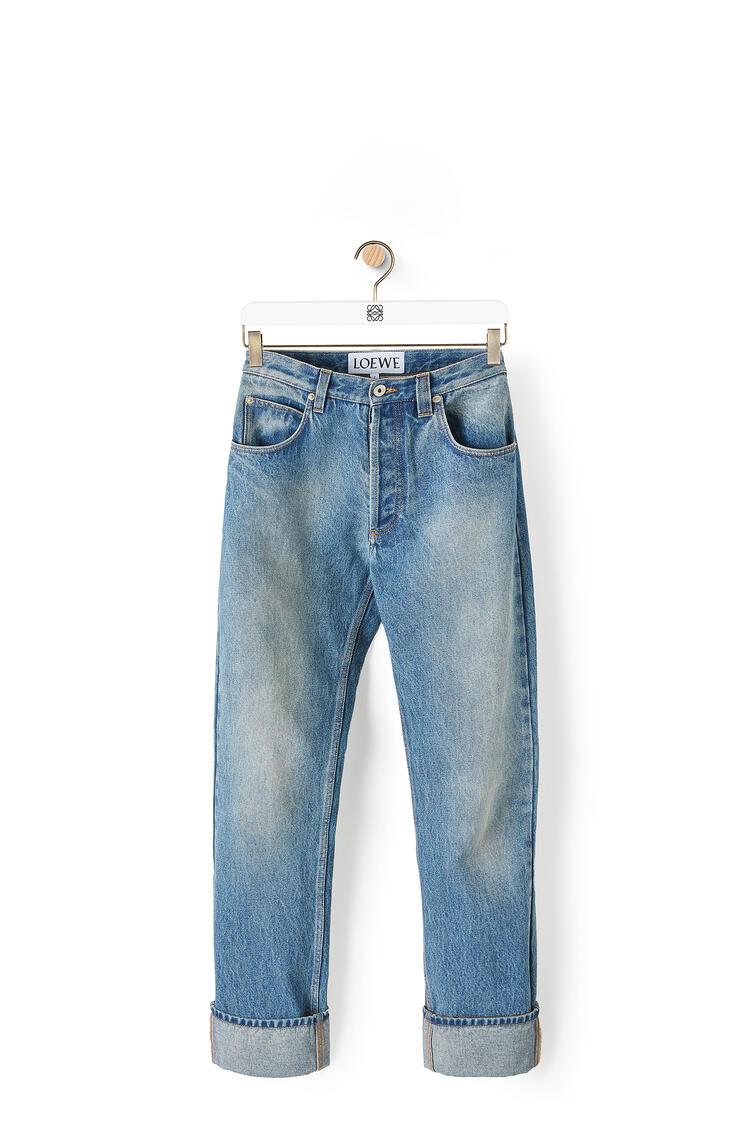 LOEWE 棉质窄腿牛仔裤 水洗牛仔蓝 pdp_rd